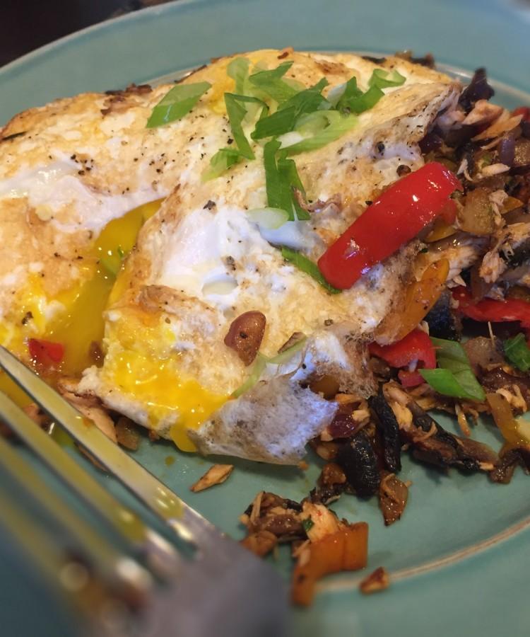 Salmon Hash and Eggs