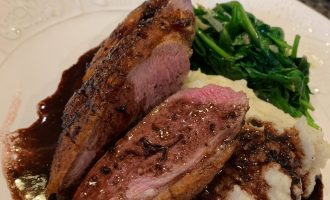 seared duck breast