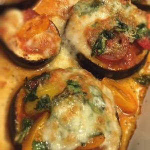 Eggplant Spinach Pizza