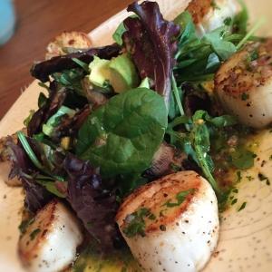 Seared Scallops with Orange-Lime Vinaigrette Salad